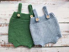 Lemon-peel-crochet-baby-romper Crochet Baby Bloomers, Crochet Baby Clothes Boy, Crochet Romper, Crochet Baby Shoes, Crochet For Boys, Cute Crochet, Baby Romper Pattern Free, Baby Bloomers Pattern, Baby Boy Overalls