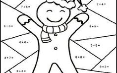 Lovely Christmas Math Coloring Pages