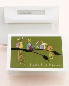Bird Notecards by Fabulous Stationery at Horchow.