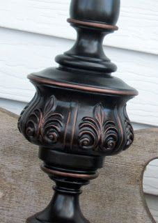 Oil rubbed bronze spray paint and Spanish copper Rub & Buff to refinish metal surfaces.