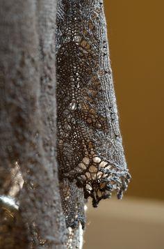 Knit with the Buffalo Wool Co Sexy, undyed - Gorgeous yarn! Yarn Harlot latest shawl