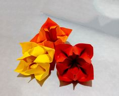 Bouquet for Mother's day.  Origami Bunch of flowers for present. House d...