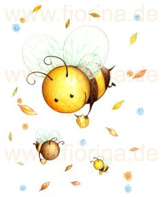 friendly baby bee illustration
