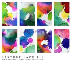 Color splash-ink pictures PSD