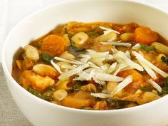 Tuscan Bean Soup (replace chicken stock with veg stock) Soup Recipes, Vegetarian Recipes, Cooking Recipes, Healthy Recipes, Family Recipes, Chowder Recipes, Chili Recipes, Delicious Recipes, Pasta Recipes
