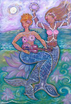 """Sisters Born of Song"" mermaid art by Shiloh Sophia McCloud"