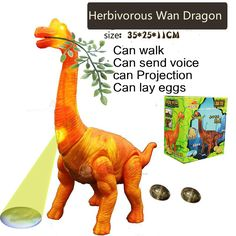 Cheap Electronic Pets, Buy Directly from China electric grass Wan Dragon Toy model simulation animal walking wings will lay eggs singing dinosaur projection kid Toys gift Dinosaur Toys, Dinosaur Stuffed Animal, Electronic Toys, Chant, Educational Toys, Singing, Wings, Image, Products