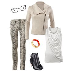 Ryder Jacket - Moto-inspiration is huge this season, and the look is beautifully translated in the Ryder Jacket. The quilted finish will make this your cold weather go-to.  Warby Parker Glasses, Diamondback Super Skinny Jean, Ryder Jacket, CAbi Hardware Bangle, Nine West Bootie, Sleeveless Overlay Tee www.suzanneschuetter.cabionline.com