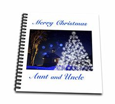 Florene  Holiday II  Print of Merry Christmas Aunt And Uncle With Tree  Memory Book 12 x 12 inch db_220969_2 ** Read more reviews of the product by visiting the link on the image.