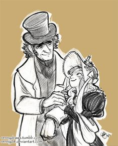 Commission- Valjean and Cosette by Renny08.deviantart.com on @deviantART