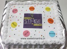 Homemade Eggless 3D/Custom Dance theme fresh cream cake at Baner, Pune
