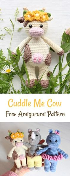 Create a friendly crochet cow using our FREE step-by-step pattern.