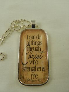 Bible Scripture Quote Philippians I Can Do by DesignsofFaithandJoy,