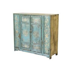 Check out this item at One Kings Lane! Tibetan Gilt Chest, Blue
