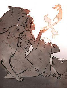 Art drawings, wolf drawings, animal drawings, animal illustrations, anime w Animal Drawings, Cool Drawings, Drawing Sketches, Animal Illustrations, Wolf Illustration, Pencil Drawings, Sketching, Fantasy Kunst, Fantasy Art