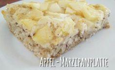 Apfel-Marzipanplatte #vegan #boskop #marzipan #dinkelmehl #blechkuchen #frausnuandthev