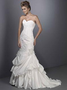 Strapless dropped waist trumpet / mermaid taffeta wedding dress#Repin By:Pinterest++ for iPad#