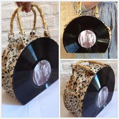 Record purse, bamboo style - PURSES, BAGS, WALLETS