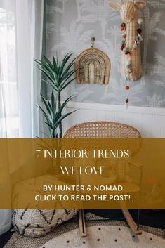 7 Interior Trends We Love – Hunter & Nomad Ikea Wine Rack, Feature Wallpaper, Colored Ceiling, Natural Rug, Quilt Cover, Wall Colors, Interior Decorating, Interior Design, Thomas Bedroom