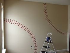 I'd love to do this on the wall in C's room or when O eventually joins him in there.