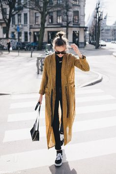 Result of a splendid shopping trip - polienne Looks Cool, Looks Style, My Style, Spring Summer Fashion, Winter Fashion, Look Fashion, Fashion Outfits, Mode Kimono, Kimono Outfit