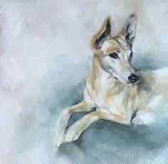 "'Izzy' 12""X 12"" oil on canvas by Julie Brunn"