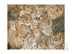 Wild Cat-Spread, 1992 Giclee Print by Ditz at Art.com