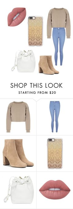 """Credit to: Hod😘"" by mayarish ❤ liked on Polyvore featuring My Mum Made It, New Look, Yves Saint Laurent, Casetify, Mansur Gavriel and Lime Crime"