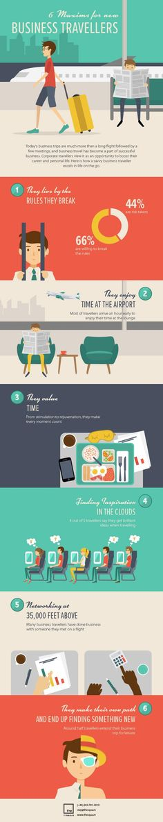 6 Maxims for new business Travellers How new business #travellers can make most out of their #officialtrip ?? #infographics #travelogue The infographic is designed to provide key information about how new business travellers can make most out of their official trips. It talks about the features that help these travellers to excel in all their trips that can boast their career and personal life on the go!  If you are planning to visit London, Paris or New York, make sure to live in an…