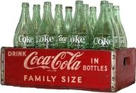 Coke bottles  (return empties; replace with filled ones)