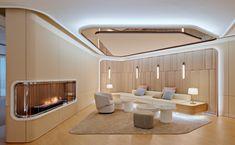 Shushu & Sassy Seoul - Jongkim Design Studio Modern Office Design, Modern Interior Design, Interior Architecture, Clinic Interior Design, Spa Interior, Cladding Design, Futuristic Interior, Hospital Design, Lobby Design