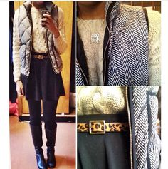 Like tHe outfit minus the J.Crew herringbone vest and it'd look more.... Straight forward..