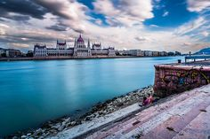 Two sides - Danube and the Parliament - Budapest, Hungary