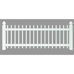 """Universal Forest Products 128003 Vinyl Spaced Picket Yard Fence Section 3"""" x 8"""" White"""