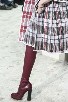 Céline's laundry bag check print detail. I want a similar skirt.