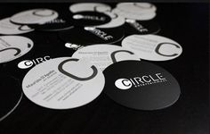 27 best circle business cards images on pinterest carte de visite were in love with these simple black and white circle business cards they wajeb