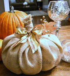 DIY Burlap Pumpkin ... so cute and cheap!!