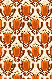Retro tulip print by pinkandfluffy on DeviantArt – Wall Paper 2020 Design Floral, Motif Floral, Retro Design, Web Design, Motifs Textiles, Textile Patterns, Print Patterns, Geometric Patterns, Motif Vintage