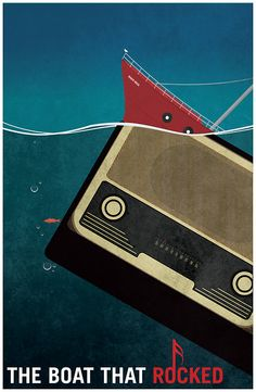 The Boat That Rocked (2009) - Minimal Movie Poster by Flef #minimalmovieposters #alternativemovieposters