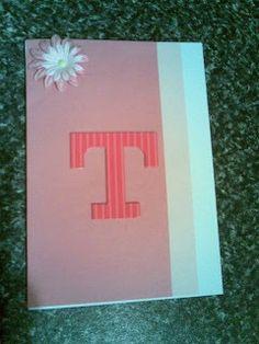 Birthday card T pink