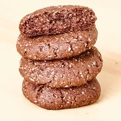 Stevia, Healthy Recipes, Cookies, Desserts, Free, Ideas, Healthy Chocolate Cookies, Almond Cookies, Gluten Free Sweets