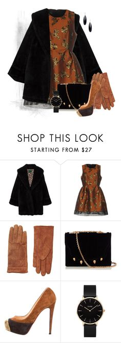 """""""Brown and Black"""" by no-where-girl ❤ liked on Polyvore featuring Jean-Paul Gaultier, Pinko, Dorothy Perkins, Marco de Vincenzo, Christian Louboutin, CLUSE and Janis Savitt"""