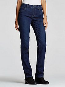 Straight Jean in Organic Cotton Soft Stretch Denim