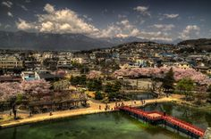 view from Matsumoto Castle, Japan