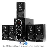 Frisby FS-5070BT 5.1 Surround Sound Home Theater Speakers System with Bluetooth USB/SD and Remote @ wernerhomeaudio.com