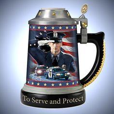 Code Of Honor Heirloom Porcelain Policeman's Stein