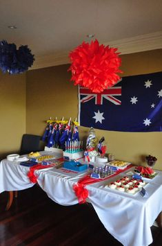 Nicole V's Australia Day / - Photo Gallery at Catch My Party Australian Party, Australian Recipes, Australian Food, Australia Cake, Aus Day, Lobster Dinner, Aussie Food, Adult Party Themes, Going Away Parties