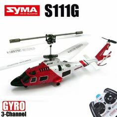 Red Cool Syma S111G 3.5CH I/R RC Remote Control Helicopter with Gyro LED by amtonsee@gmail.com. $29.99. A amazing gift for your kid,It will bring your kid lots of fun.. 100% Brand new and high quality.. Quantity: 1pcs. Easy and Convenient to use for children.. 1,Model: No. Syma S111G 2,Channel: 3.5 3,Can fly up, down, forwards and backwards, but also adds roll, which lets you control left and right along with being able to spin the helicopter on the spot while hovering. 4,Ma...