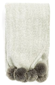 Nordstrom at Home Brushed Throw with Pompoms available at #Nordstrom