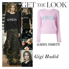 """Gigi Hadid Alberta Ferretti Fashion Show In Milan ItalyFebruary.22.2017"" by valenlss ❤ liked on Polyvore featuring Alberta Ferretti"